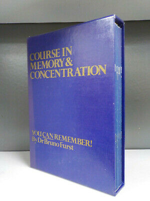 Course In Memory & Concentration 1987 Dr Bruno Furst 17 Books ID7199