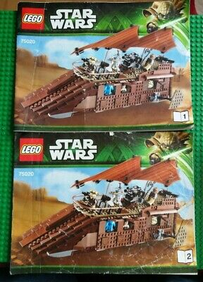 Lego Star Wars - 75020 - Jabba's Sail Barge - Instruction Manual / Booklet Only