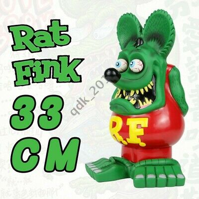 "13"" Green Red Rat Fink Action Figure Roth Ed Big Daddy Statue Model Toy b"