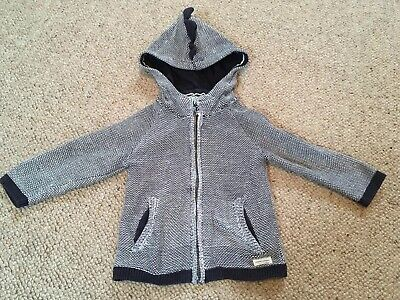 Boys Zara Knitwear Jumper 18-24 Months. 'dino' Spikes On Hood. Really Cute!