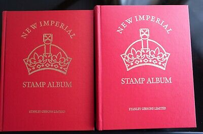 COMMONWEALTH A-Z in 2 SUPERB IMPERIAL ALBUMS Many old stamps/countries High CV