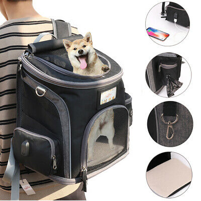Soft Side Pet Carrier Backpack Small Cat Dog Outdoor Travel Bag Airline Approved