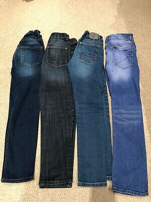 Boys Skinny Blue Jeans X 4 Age 10-11 Years