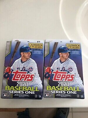 2020 Topps Series 1 Lot x2 Sealed HANGER Box Walgreens Exclusive 6 Yellow Cards