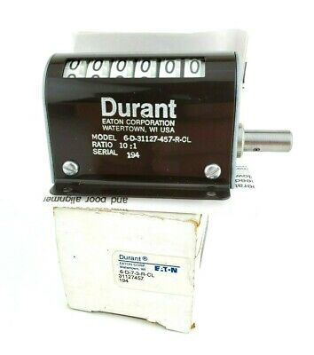 Durant Eaton 6-D-7-3-R-CL Rotary Counter 6-D-31127-457-R-CL Ratio 10:1 NEW