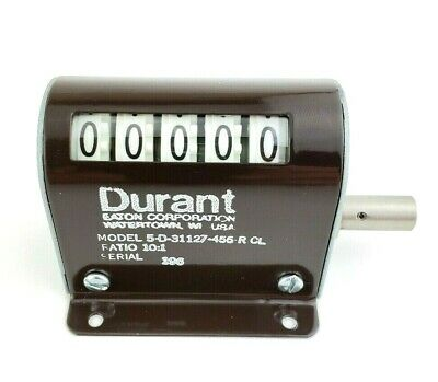 Durant Eaton 5-D-7-3-R-CL Rotary Counter 5-D-31127-456-R-CL  Ratio 10:1 NEW