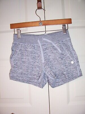 90 Degree girl's gray shorts cuffs,pockets,wide elastic waist size L (12)