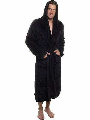 Ross Michaels Men's Hooded Robe - Plush Shawl Kimono Bathrobe for Men