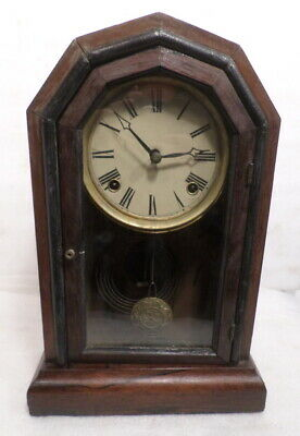 1875 Unusual 8 Day American Time & Strike Cottage Clock