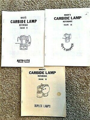 MINER'S CARBIDE LAMP REFERENCE Vol. 2,3,6 by P. Kouts, Patents, Drawings mining
