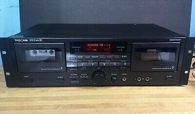 Tascam 202 MkIII Dual Cassette Deck. Black, rack mountable  FREE SHIPPING
