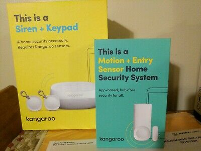 KANGAROO Alarm Home Security System 4 Piece Starter Kit-Optional 24/7 Monitoring