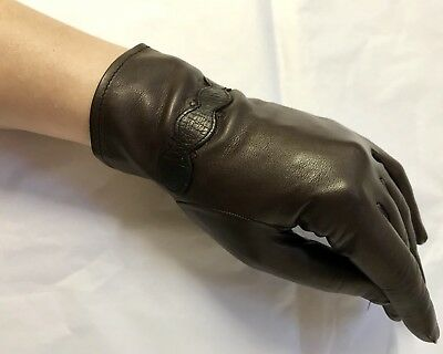 Vintage Dents Dark Nut Brown Cabretta (Hairsheep) Leather Gloves