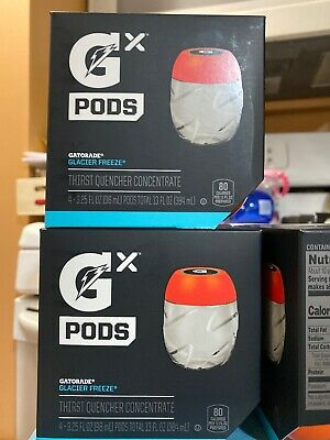 Gatorade GX Pods -Glacier Freeze Blue One 4 Pack IN HAND. Ships With USPS