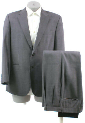 """Jos A Bank Mens Charcoal Gray Wool 2 Btn Suit 42R Pleated Fronts 36"""" Waist"""