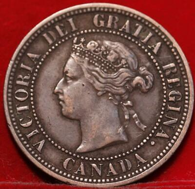 1876-H Canada One Cent Foreign Coin