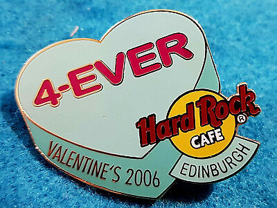 Edinburgh VALENTINSTAG Candy Herz Serie 4-EVER 2006 Hard Rock Cafe Pin Le