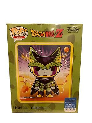 FUNKO Pop! Dragon Ball Z Metallic Perfect Cell GameStop Exclusive T-Shirt Medium