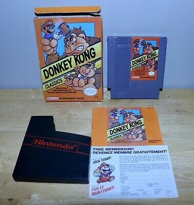 Donkey Kong Classics Nintendo NES with Box, Manual & Membership Card