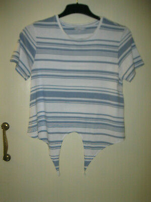 Womens ladies size 14 white blue striped T shirt top Red Herring