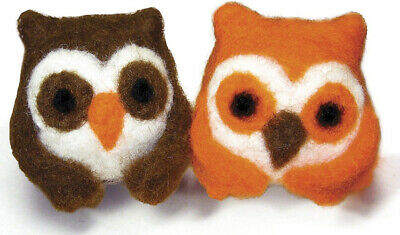 DIMENSS Round and Woolly Owls Needle Felting Kit, One size
