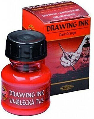 KOH-I-NOOR t's Drawing Ink - Dark Orange