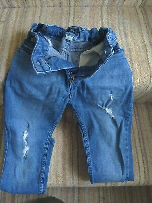 Boys River Island Age 7 Skinny Denim Jeans Adjustable Waist