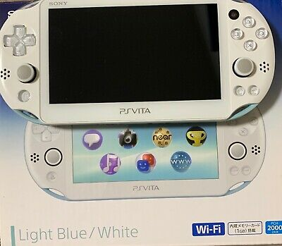 PlayStation Vita Wi-Fi Console Only PCH-2000 Light Blue White PS Vita with Box