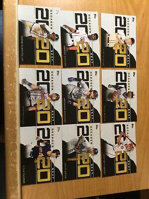 2020 Topps Series ONE DECADE'S NEXT INSERT LOT OF 9 CARDS ACUNA JR