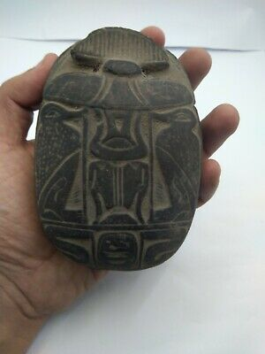 RARE ANTIQUE ANCIENT EGYPTIAN Scarab Beetle Good Luck Stone 1665 Bc