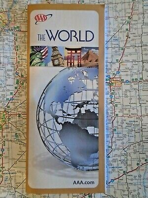 AAA Map of the World Globe Planet Countries 2020 Educational Landmark Continents