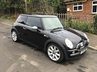 2003 Mini Cooper 1.6 Black 88000 Miles 1 Family Owner Chill Pack Half Leather