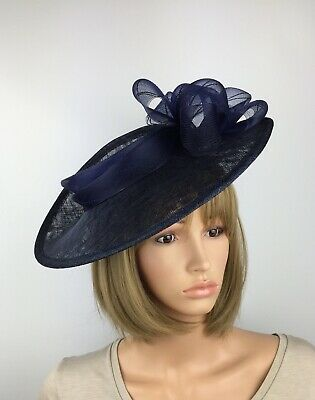 Navy Blue fascinator Blue Wedding Hatinator Mother Of The Bride Ascot Races Hat