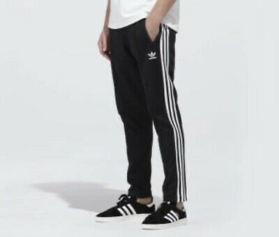 Adidas Black Beckenbauer Tracksuit Bottoms Size Medium ~ Great Condition