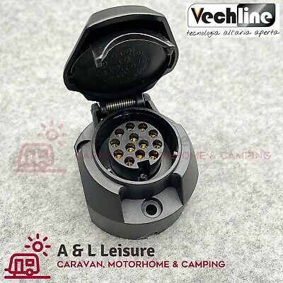 VECHLINE 13 Pin Caravan Towing Socket Plug Connector 12V Tow Bar Socket  012038A