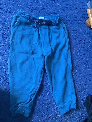 River Island Minis Boys Blue Joggers Bottoms Trousers Age 2 - 3