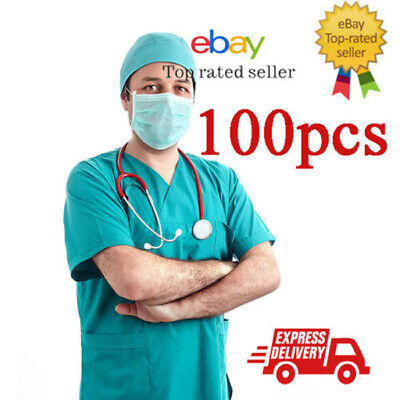 100 Pcs Disposable Mask Surgical Face Mask 2 Ply Dust Proof Industrial Face Mask