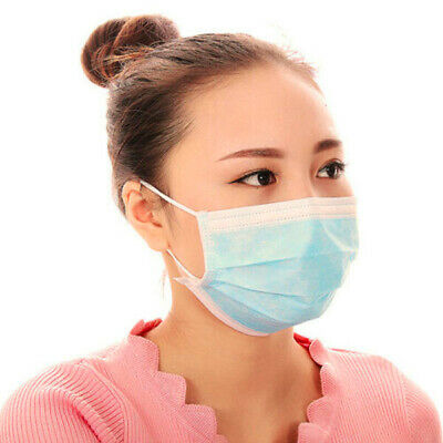 300 Disposable Face Mask Surgical Medical Mask Dental Industrial Dust Proof 3Ply