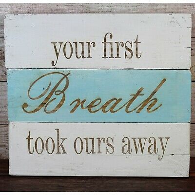 Mother Stainless Steel Charm BFS427 Your First Breath Took Mine Away