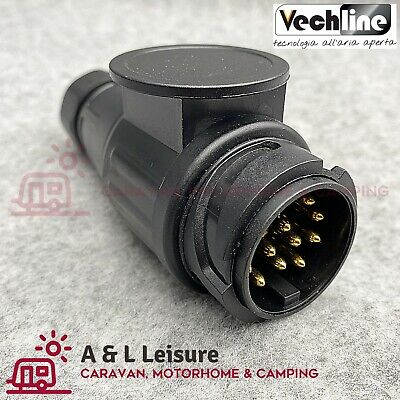 VECHLINE 13 Pin Caravan Towing Plug Connector 12V Tow Bar Plug  012037A