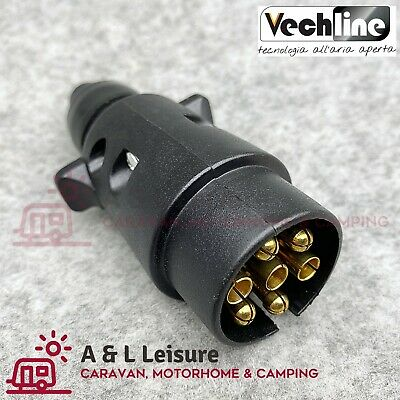 VECHLINE 12N 7 Pin Caravan Towing Plug Connector 12V Tow Bar Plug  012003A