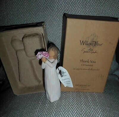 """Willow Tree Susan Lordi """"Thank You"""" Ornament New Boxed"""