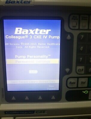 Baxter Colleague CXE 3 tier volumetric pump