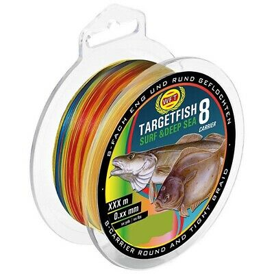 WFT TARGETFISH 8-fach geflochtene Schnur Deep Sea - 0,25mm - 400m - Multi Color