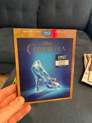 CINDERELLA BluRay DVD Best Buy Exclusive Lenticular Slipcover - Live Action RARE