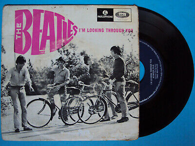 "7"" ep THE BEATLES i'm looking through you LMEP 1223 PORTUGAL 1966 portuguese EMI"