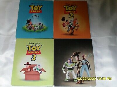 Disney Pixar Toy Story 1-4 Steelbooks 4 Movies Total All 4K Ultra Hd Anamation