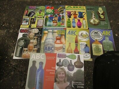 10x ABC ANTIQUE BOTTLE COLLECTING MAGAZINES