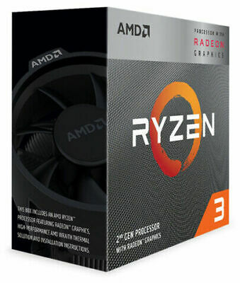 AMD Ryzen 3 3200G 3.6GHz 4 Core AM4 Boxed Processor W/ Wraith Stealth Cooler NEW