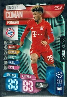 Topps Match Attax Extra Champions League 2019/20 19/20 Rs 9 rising Stars Coman